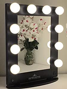 impressions vanity kw glam b hollywood glam vanity mirror with le. Black Bedroom Furniture Sets. Home Design Ideas