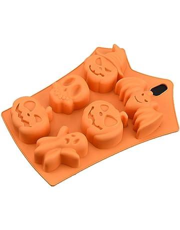 nikgic calabaza de Halloween Fondant tarta silicona forma antiadherente Muffin patrón Pudding Chocolate Moldes DIY mordaza