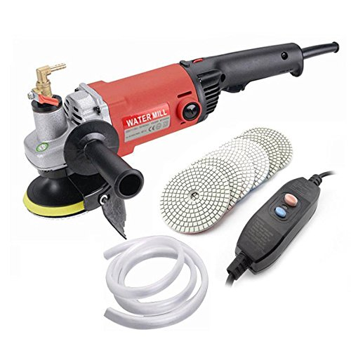 MOPHOTO 4-Inch Variable Speed Random Orbital Polisher Kit, Countertop Wet Sander Grinder w/Diamond Pads for Marble/Stone/Granite, USA Warehouse Shipment by MOPHOTO (Image #2)