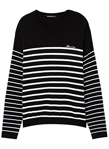 meters-bonwe-womens-casual-striped-loose-fit-pullover-sweater-black-xl