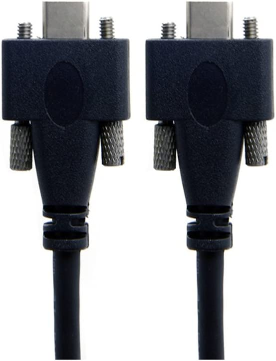USB 3.1 Type-C Dual Screw Locking to Locking USB-C 10Gbps Data Cable 1.2m Panel Mount Type,120CM