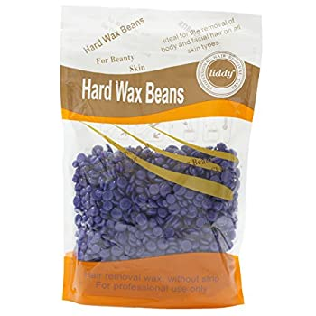 Byingo Hair Removal Hard Wax Beans Professional Painless Body Depilatory Solid Grain Depilatory Pearl Anti-Allergy for Men Women 10oz/300g (Lavender)
