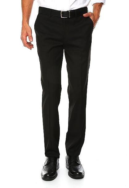 1fe9801949 Do Rego   Novoa Pantalón de Vestir Corte Extra Slim Fit Pantalones para  Hombre Negro Talla