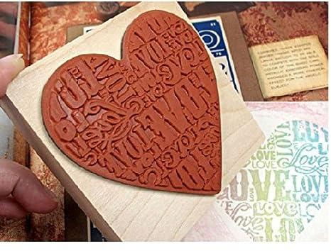 Sello de Madera Vintage LOVE para decoracion de cartas ...