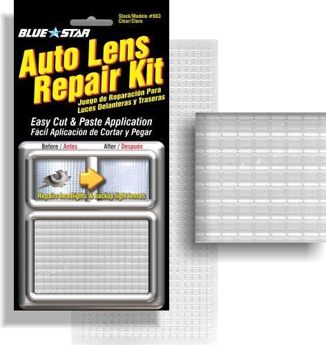 (Blue Star Auto Reverse Light / Tail Light / Head Light Lens Repair Kit, Clear)