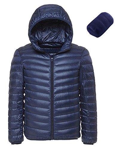 Long Blouson Veste Homme À Bleu Chaud Glestore Parka M Foncé D'hiver Doudoune Capuche Manteau 02 Manche IzTwwq8