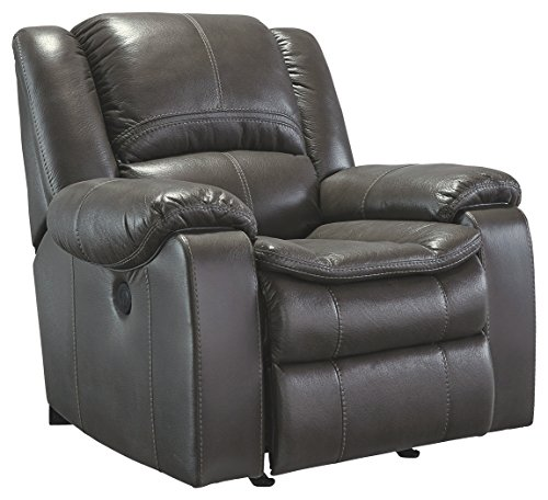 Ashley Furniture Signature Design - Long Knight Rocker Recliner - Pull Tab Manual Reclining Sofa - Contemporary - - Gentle Ashleigh