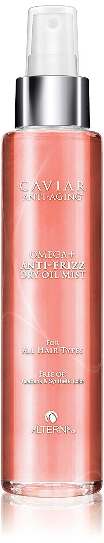 Alterna Caviar Anti-Aging Omega+ Anti-Frizz Dry Oil Mist, 5 oz (with Sleek Steel Pin Tail Comb)