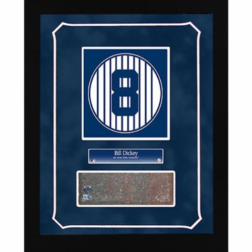 - Steiner Sports MLB York Yankees Bill Dickey Retired Number Monument Park Brick 14x18 Framed Collage Plate