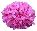 kuugear Pair, 6' Plastic Cheerleading Pom Pom with Baton Handle - New Pink