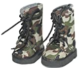 Buys By Bella's Camouflage Boots for 18 Inch Dolls Like American Girl, Baby & Kids Zone