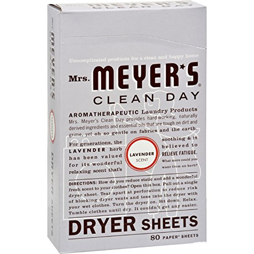 2Pack! Mrs. Meyer's Dryer Sheets - Lavender - Case of 12 - 80 Sheets by Laundry by Shelli Segal