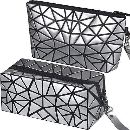 2 Pack makeup bag Cosmetic Bag Travel Bag makeup bag set Portable Toiletry Bag Makeup Brushes Bag Waterproof Organizer Bag for Women Girls Men