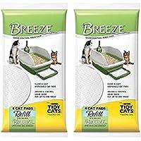"Breeze Tidy Cat Litter Pads 16.9""x11.4"" - 2 pack of 4 pads (2-Pack)"