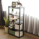 Rack shelf Racking Shelves Bookshelf Five Layers Shelf Shelf Storage Rack Simple Bookshelf Creative Student Bookshelf ( Color : Black )