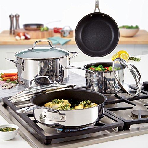 510o6wta4yL - Circulon Genesis Stainless Steel Nonstick 10-Piece Cookware Set