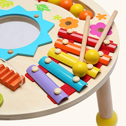 MG.QING Knock Piano Music Table Baby Multi-Function Game Table Baby Puzzle Early Education Wooden by MG.QING (Image #2)