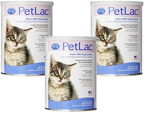 PetLac Milk Powder for Kittens, 10.5-Ounce Each (3 Pack) by PetLac