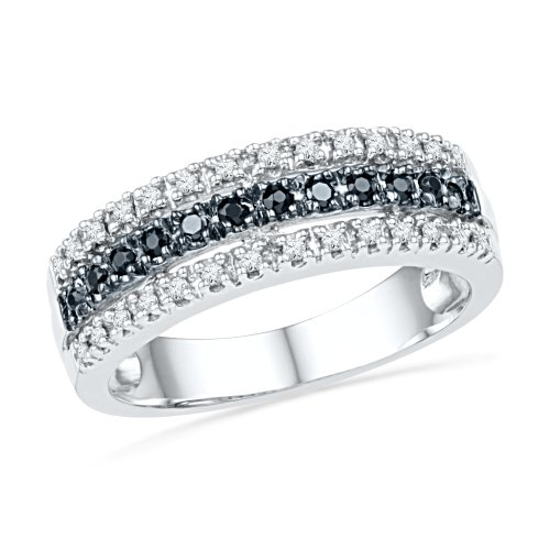 sterling-silver-round-diamond-black-and-white-anniversary-ring-1-4-cttw
