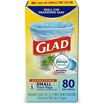 Amazon.com: Glad OdorShield Small Drawstring Trash Bags ...