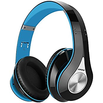 Mpow 059 Bluetooth Headphones Over Ear, Hi-Fi Stereo Wireless Headset, Foldable, Soft Memory-Protein Earmuffs, w/Built-in Mic and Wired Mode for PC/Cell ...