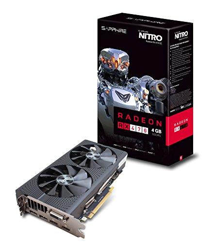 Sapphire Radeon Nitro Rx 470 4 GB GDDR5 Dual HDMI / DVI-D / Dual DP OC (UEFI) کارت گرافیک PCI-E 11256-10-20G