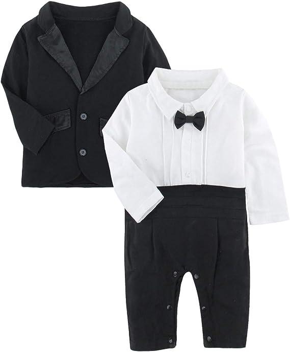 Mangka Baby Boy Gentleman Romper Jumpsuit for Party Wedding