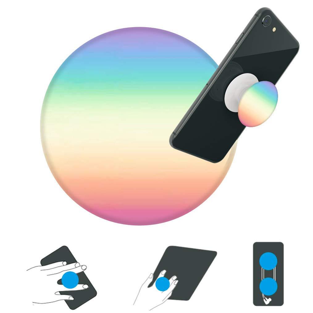 hjnhfgg-Support y Toma de Mano para tel/éfono Inteligentes y Tablets Soporte de tel/éfono para Chicos y Filles-Pastel Rainbow Ombre White Base