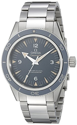 Omega Titanium Bracelet - Omega Men's 23390412103001 Seamaster300 Analog Display Swiss Automatic Silver Watch