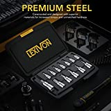 LEXIVON Torx Bit Socket Set, Premium S2 Alloy Steel