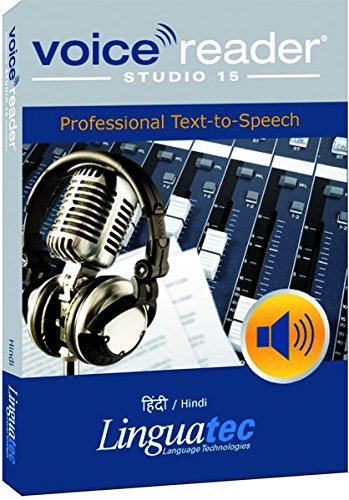 - Voice Reader Studio 15 हिंदी / Hindi - Professional Text-to-Speech Software (TTS) for Windows/ Convert any text into audio / Natural sounding voices / Create high-quality audio files / Large variety of applications: E-learning; Enrichment of training documents or advertising material; Traffic announcements, Telephone information systems; Voice synthesis of documents; Creation of audio books; Support for individuals with sight disability or dyslexia / This version contains 1 female voice