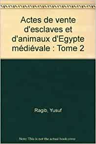 actes de vente d esclaves et d animaux d egypte medievale