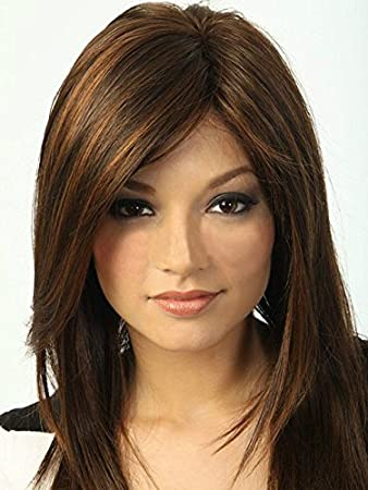 Bestland Womens Short Straight Bob Style Synthetic Brown