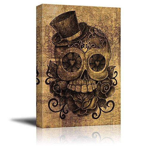 Print Day of The Dead (Dia De Los Muertos) Themed Skull