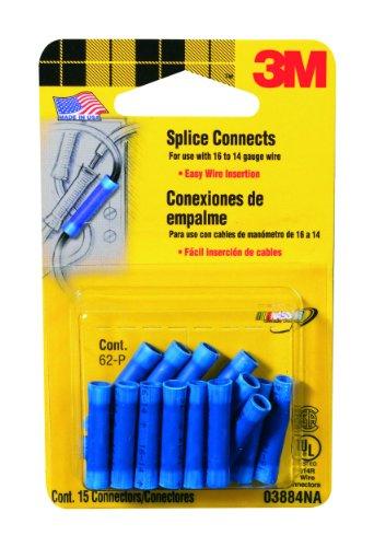 - 3M Blue Splice Connectors for 16-14 Gauge Wire, 15-Pack