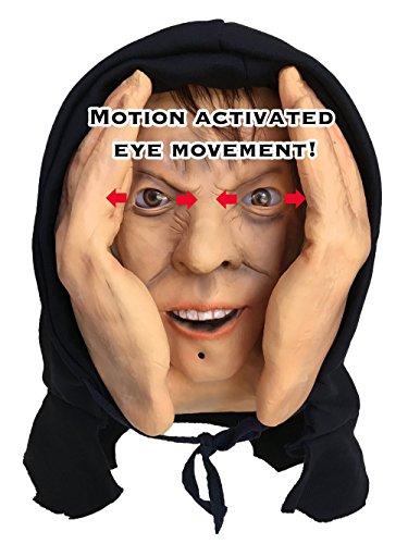 Scary Peeper Motion Sensor Animated Eyes Creeper Window Prop - Halloween Haunted House Prank Decoration Display Window Cling by Scary Peeper (Image #1)