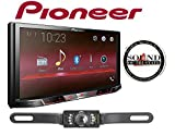 Pioneer MVH-300EX 7'' Digital Multimedia Video Receiver (Does NOT Play CDs) w/ CrimeStopper SV51301IR License Plate Style Backup Camera and a SOTS Air Freshener