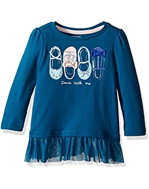 Baby Girls' Ls Tee with Tutu Bottom