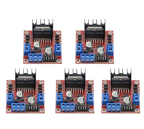 (5Pcs Dual H Bridge DC Stepper Motor Driver Controller Board Module for Arduino L298N)