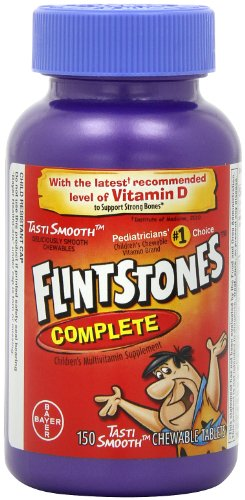 Flintstones Children's Complete Multivitamin Chewable Tablets, 150-Count Bottles (Pack of 2), Health Care Stuffs