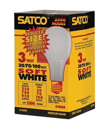 Satco Soft White 3-Way Compact Light Bulb
