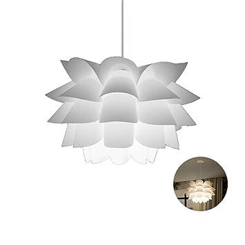 Amazon.com: Lámpara de techo con diseño de flor de loto ...