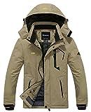 Wantdo Men's Waterproof Mountain Jacket Fleece Windproof Ski Jacket(US L)