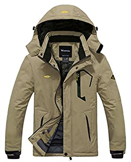 Wantdo Men's Waterproof Mountain Jacket Fleece Windproof Ski Jacket(US S) (B00OA1BWFW) | Amazon price tracker / tracking, Amazon price history charts, Amazon price watches, Amazon price drop alerts