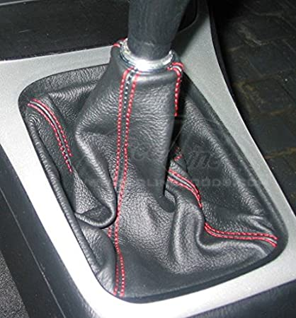 Black Leather-Blue Thread RedlineGoods Shift Boot Compatible with Acura Integra 1994-01