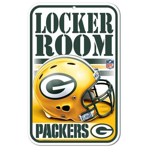 WinCraft Green Bay Packers 11'' x 17'' White Locker Room ()