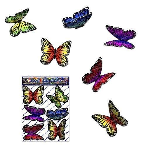 Papillon multicolore vagabond Autocollants de voiture- ST00028MC_SML - JAS Stickers