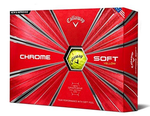 Callaway Golf Chrome Soft Golf Balls, (One Dozen), Yellow