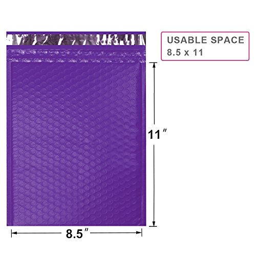 UCGOU 8.5x12'' Purple Poly Bubble Mailers Padded Envelopes Self Seal Mailing Envelopes Bags Pack of 25 by UCGOU (Image #1)