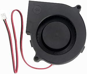 GDSTIME 7530 Blower Fan, 75mm Blower Fan, 75mm x 30mm 5V 2PIN DC Brushless Cooling Blower Fan